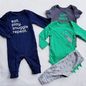 CARTER'S Snuggle and Dinosaur Outfits